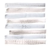 Vector watercolor abstract background, stylish horizontal stripes in gray and blue colors brush strokes