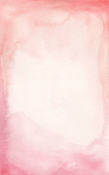 abstract watercolor background - pink color stock illustrations