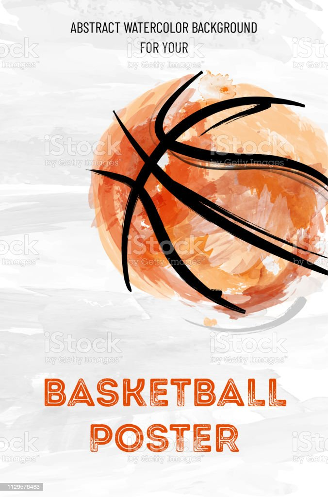 Abstract watercolor basketball background for your design - vector...