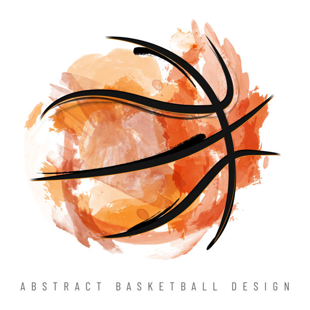 Abstract watercolor basketball ball on white background Abstract watercolor basketball ball on white background - vector illustration basketball stock illustrations