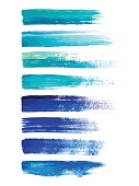 Abstract watercolor brush strokes isolated on white, creative illustration,fashion background. Vector