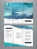 istock Abstract watercolor business brochure template 1127254547
