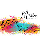 istock abstract watercolor music background with notes symbols 1172914637
