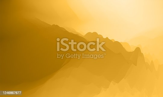 istock abstract watercolor nature  mountain landscape sunrise background 1246867677