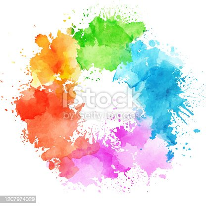 istock Abstract watercolor paint 1207974029