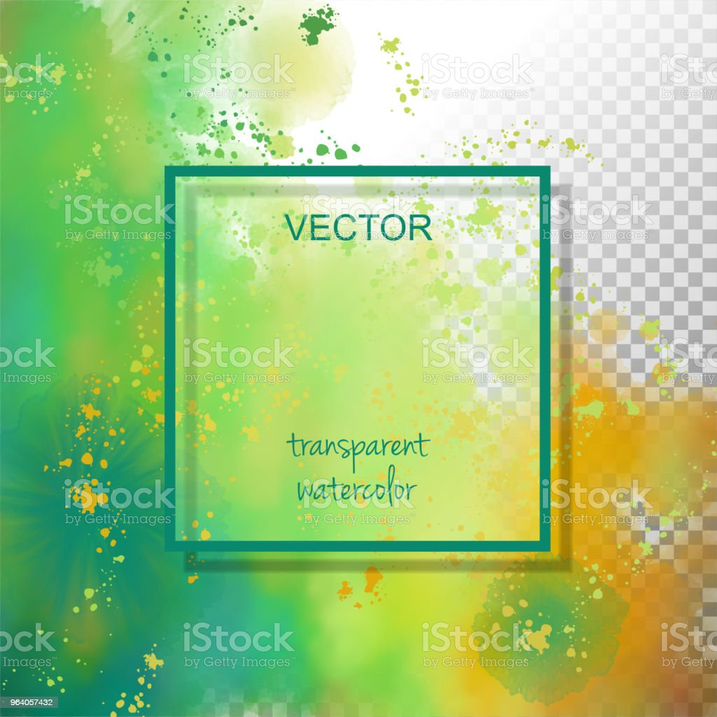 Abstract Watercolor Splash - Royalty-free Abstract stock vector
