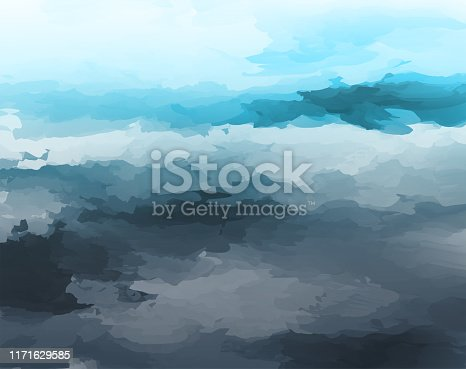 abstract watercolor style cloudy landscape background