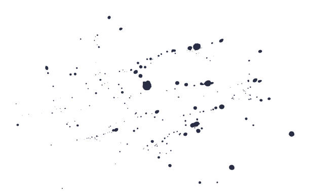 Abstract watercolor vector background. Abstract watercolor vector background. Black splashes and drops on a white background. ink stock illustrations