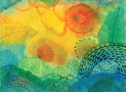 Abstract Watercolour Background Stock Illustration - Download Image Now