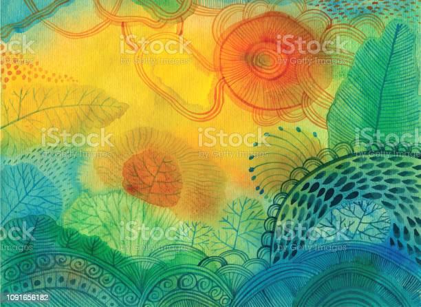 Fond Abstrait Aquarelle Vecteurs libres de droits et plus d'images vectorielles de Abstrait