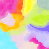 Abstract Watercolour Background with Bright Color Brush Strokes.