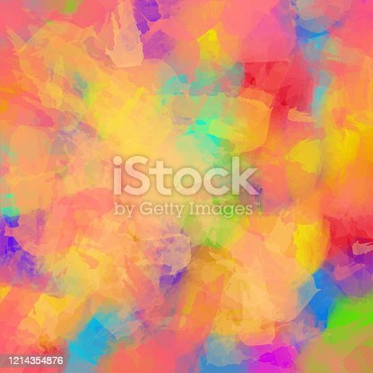 Abstract Watercolour Background with Bright Color Brush Strokes. Abstract vector pattern. Abstract background texture for cards, party invitation, packaging, surface design.