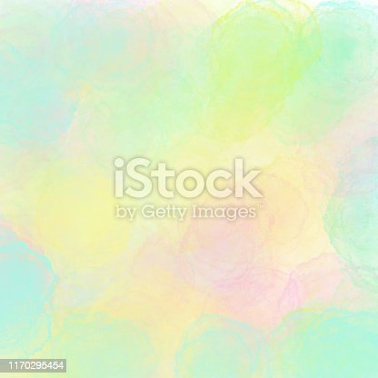 Abstract Watercolour Background with Soft Color Brush Strokes. Border of hues of multi colored paint splashing droplets. Watercolor strokes design element. Rainbow colored hand painted abstract texture.