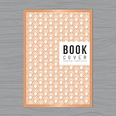 Abstract wave background for Book cover, Poster, Flyer, Brochure, Corporate, Annual report design Layout template in A4 size. Wave pattern. Printing design - Vector illustration.