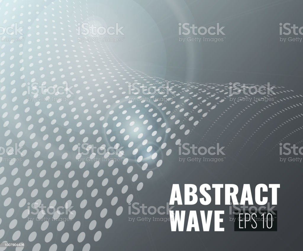 Abstract Wave Background vector art illustration