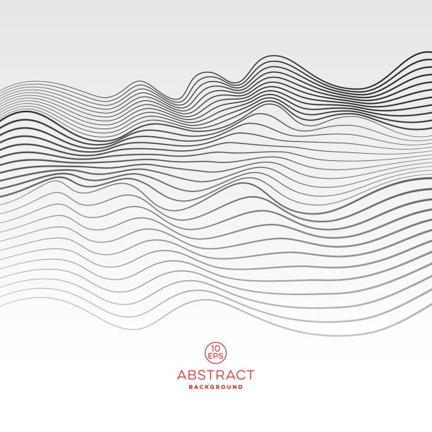 abstract wave background - sine wave stock illustrations