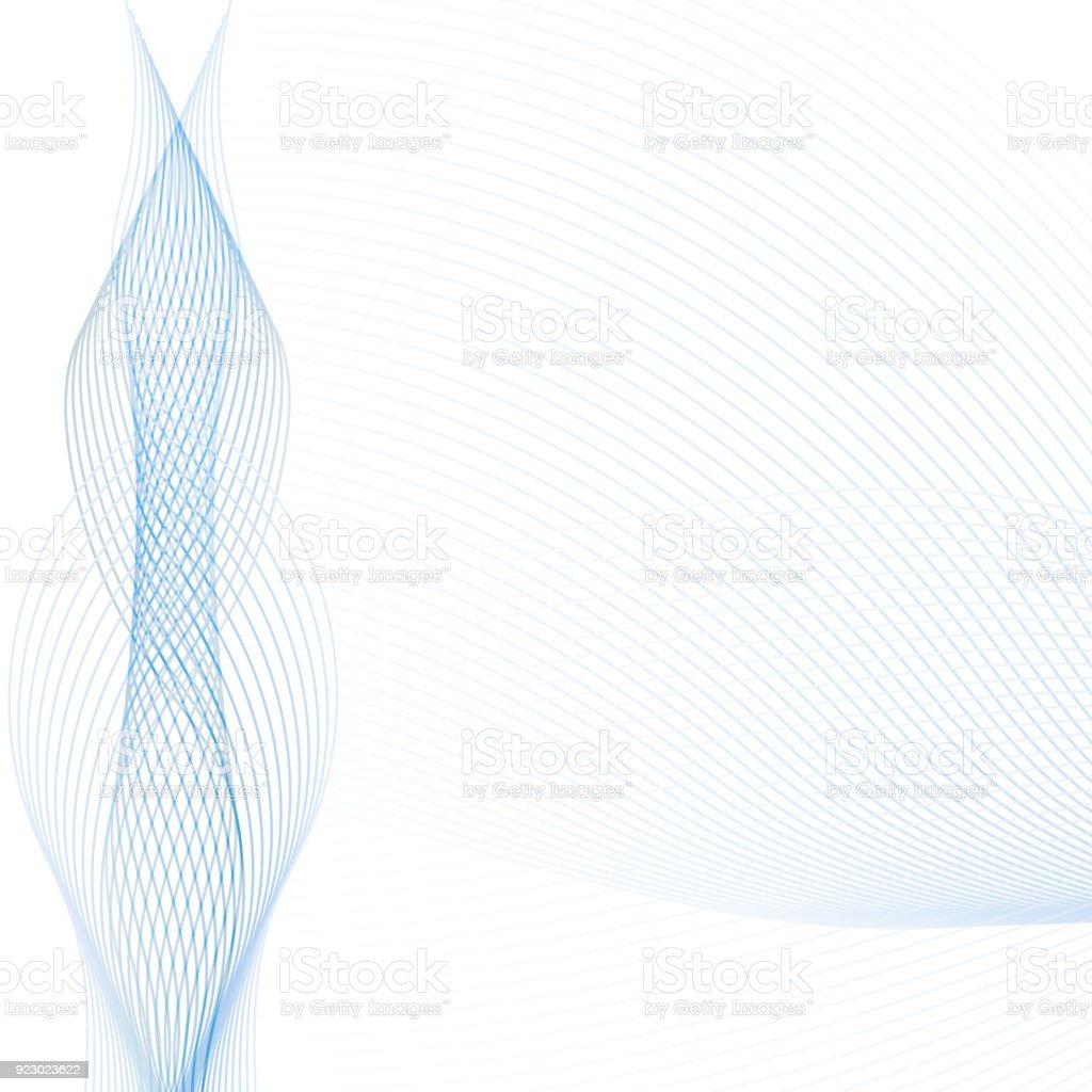 抽象的な波背景透明なブルーとグレーの線で技術 web 観光スポット