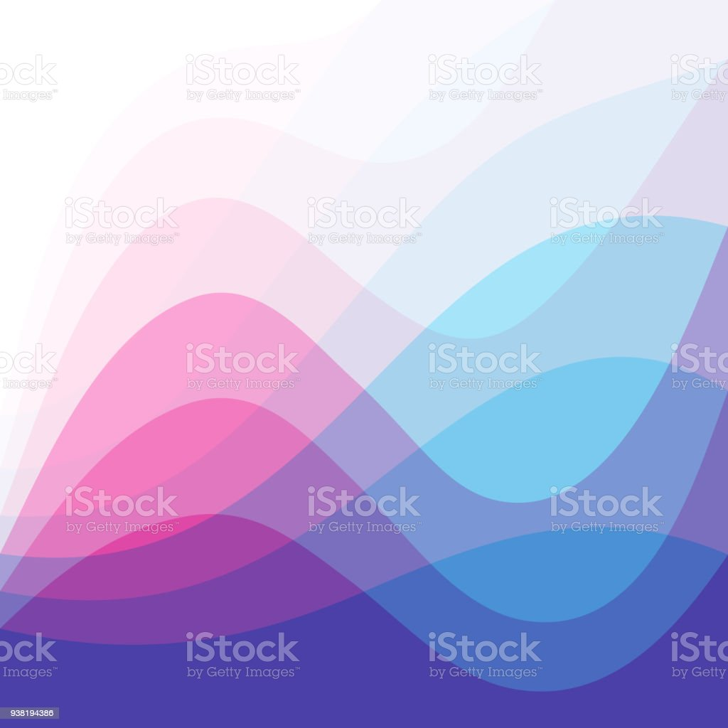 Abstract Wave Blue Pink Background vector art illustration