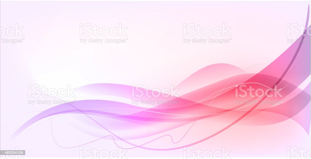 Abstract wave design vector art illustration