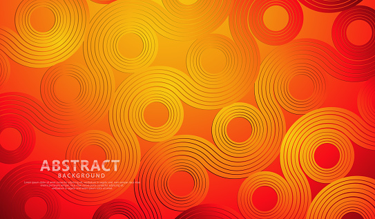 Abstract wave lines and round shapes background for element design and other users