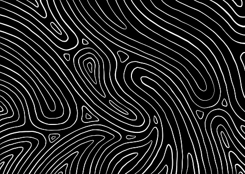 Abstract wave lines. Black and white line pattern. Vector illustration for web, banner, poster, backdrop, background.