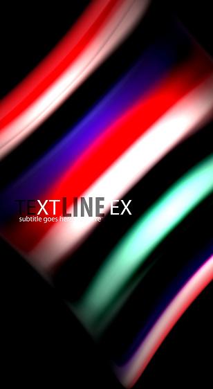 Abstract Wave Lines Fluid Rainbow Style Color Stripes On Black Background Artistic Illustration For Presentation App Wallpaper Banner Or Poster — стоковая векторная графика и другие изображения на тему Абстрактный