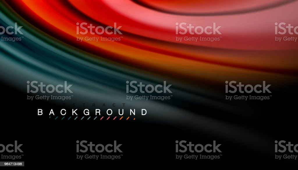 Abstract wave lines fluid rainbow style color stripes on black background royalty-free abstract wave lines fluid rainbow style color stripes on black background stock vector art & more images of abstract