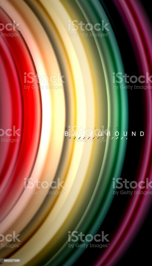 Abstract wave lines fluid rainbow style color stripes on black background abstract wave lines fluid rainbow style color stripes on black background - stockowe grafiki wektorowe i więcej obrazów abstrakcja royalty-free