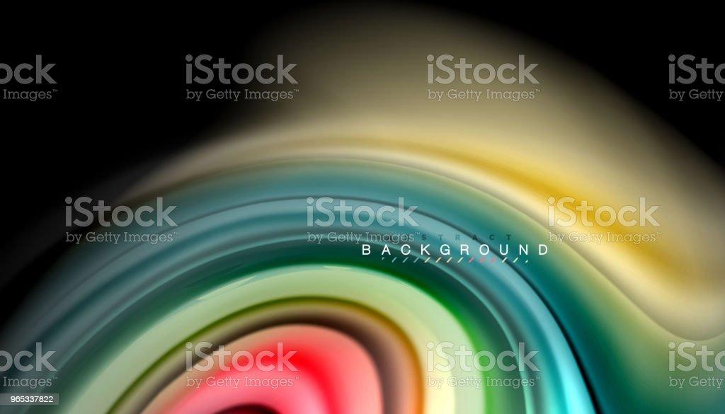 Abstract wave lines fluid rainbow style color stripes on black background abstract wave lines fluid rainbow style color stripes on black background - stockowe grafiki wektorowe i więcej obrazów abstrakcja royalty-free