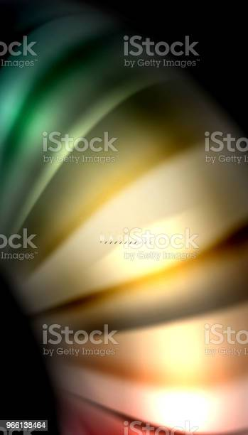 Abstrakt Våg Linjer Vätska Rainbow Stil Färg Ränder På Svart Bakgrund-vektorgrafik och fler bilder på Abstrakt