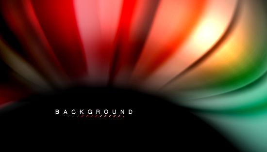 Abstracte Golf Regels Vloeistof Regenboog Stijl Kleur Strepen Op Zwarte Achtergrond Stockvectorkunst en meer beelden van Abstract