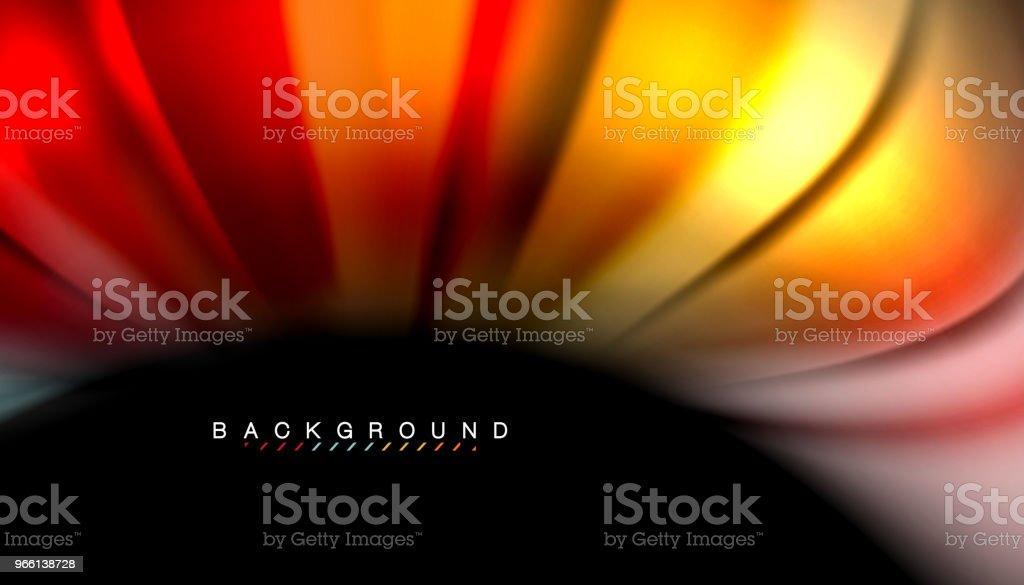 Abstracte Golf regels vloeistof regenboog stijl kleur strepen op zwarte achtergrond - Royalty-free Abstract vectorkunst