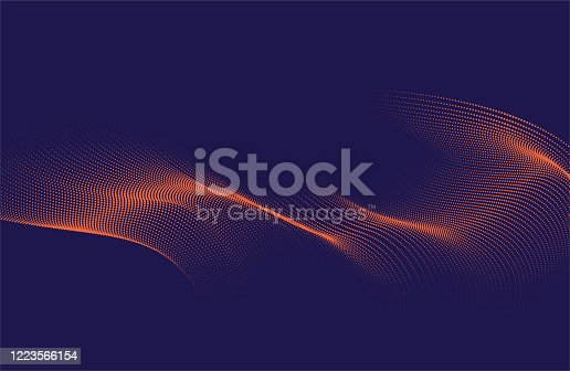 Abstract Wave Pattern Technology Background.
