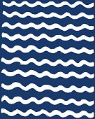 Abstract wave pattern. Drawing by hand and rendering as vector illustration.