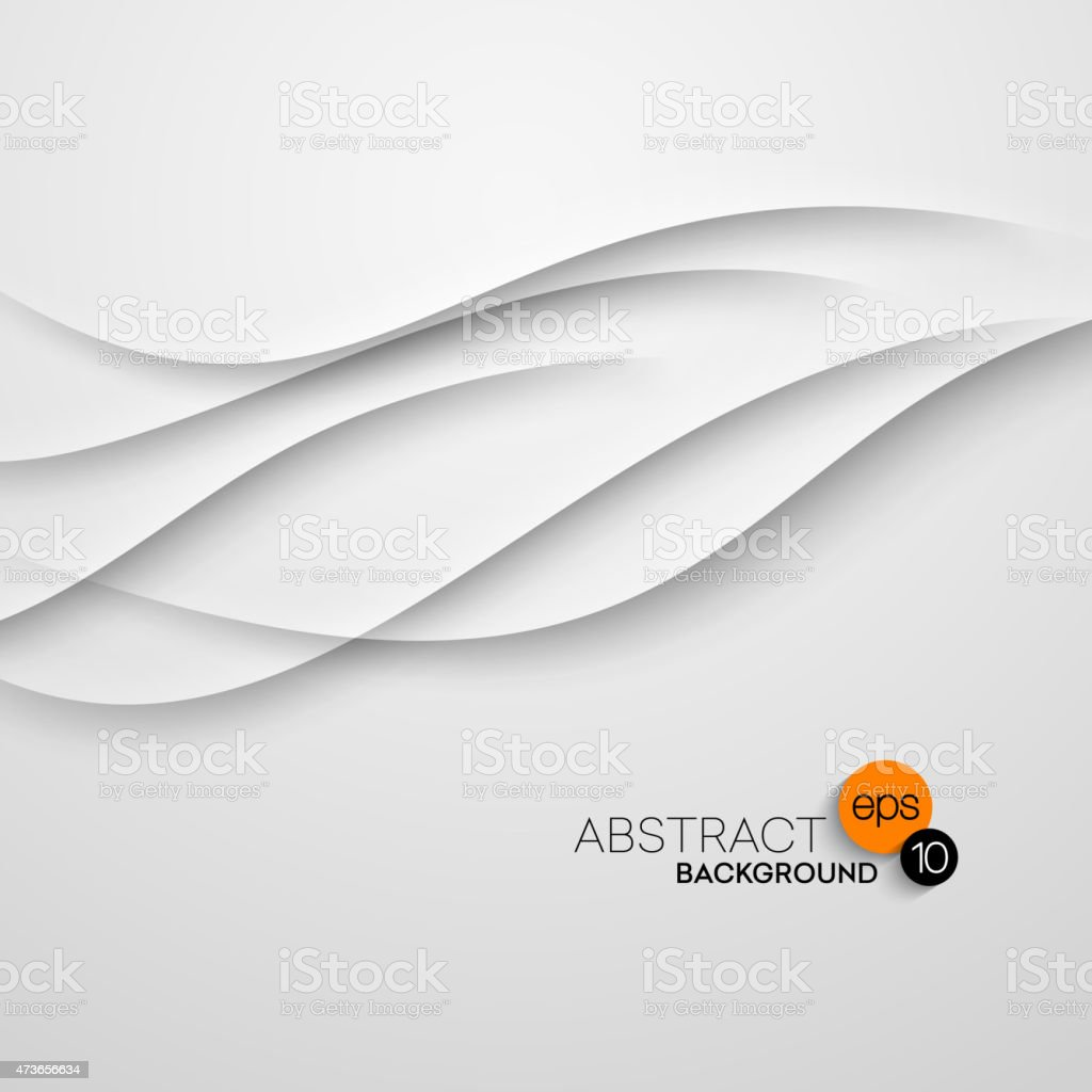 Abstract wave white background. Vector illustration vector art illustration
