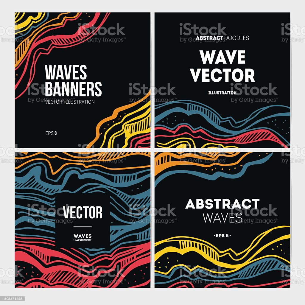 Abstract waves banner collection. Vector illustration vector art illustration