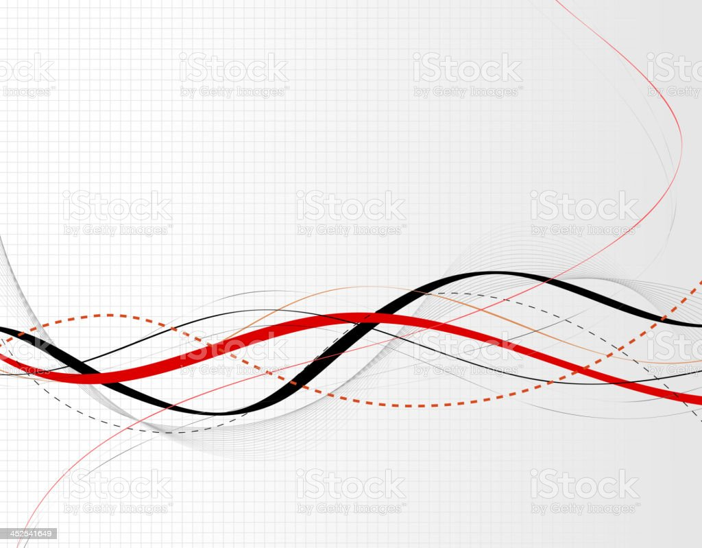 Abstract waves line background vector art illustration