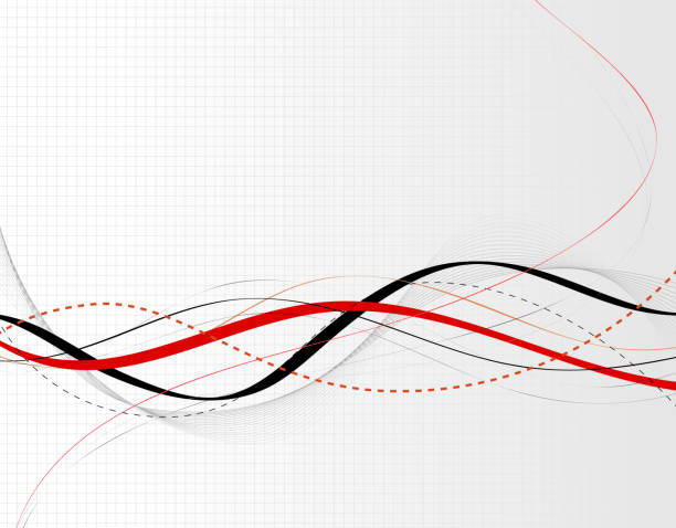 abstract waves line background - sine wave stock illustrations
