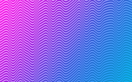Abstract Waves Modern Pattern