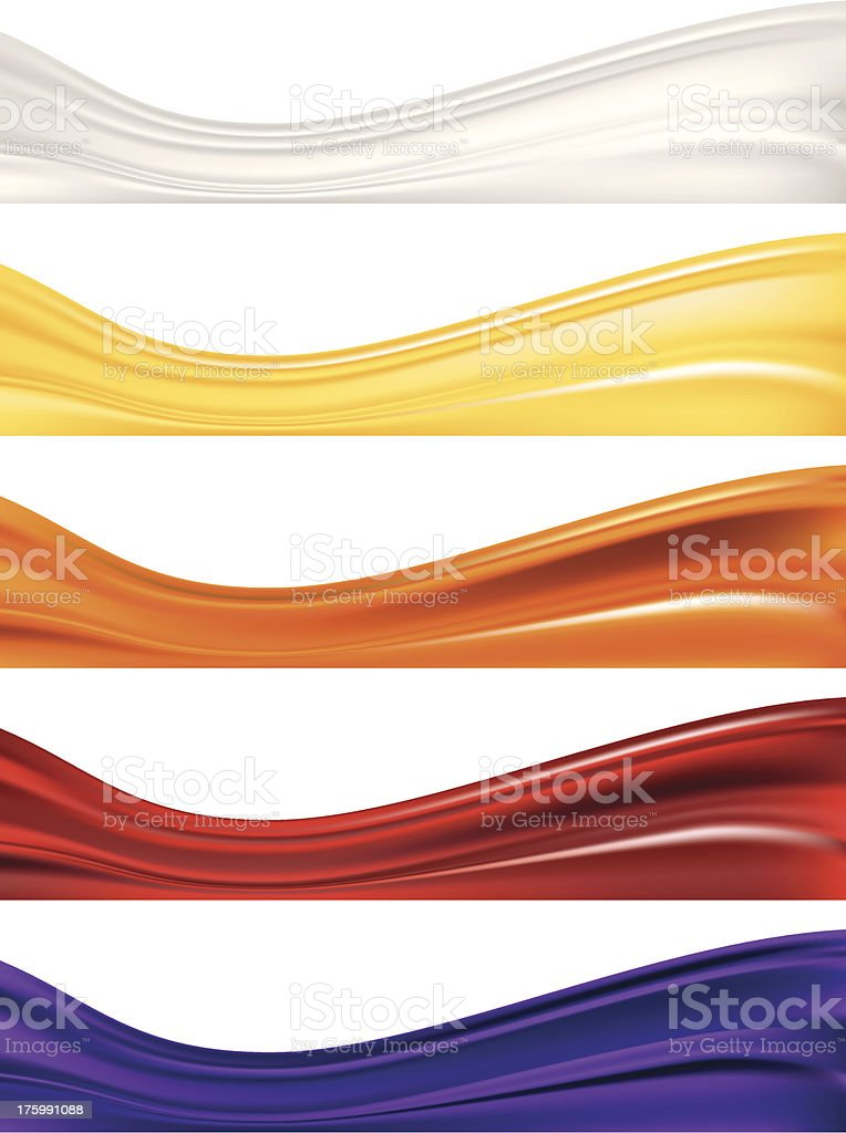 Abstract Waves Set royalty-free stock vector art