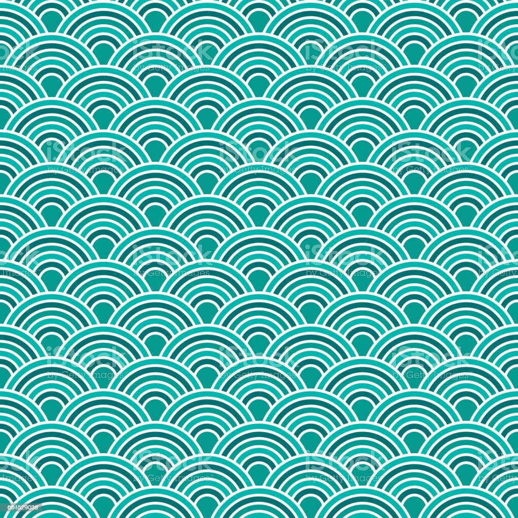 abstract waves simple seamless blue tone pattern