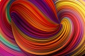 Abstract Waving Bright Multi Colors Background