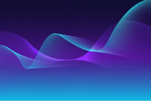 Abstract Waving Line Particle Technology Background