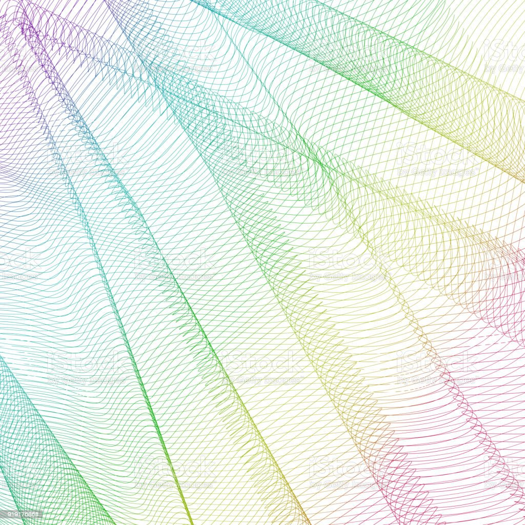 abstract wavy background in rainbow tones vector vibrant pattern