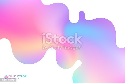 istock Abstract wavy background. Iridescent background 886481934