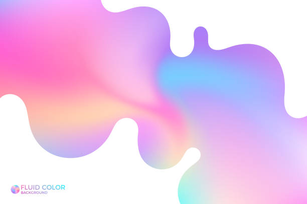 Abstract wavy background. Iridescent background vector art illustration