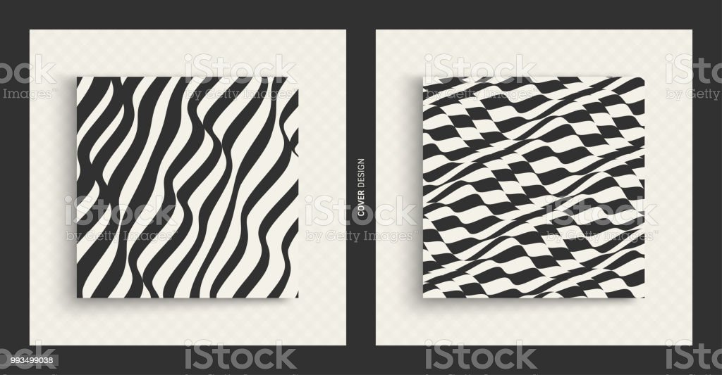 Abstract Wavy Background Pattern With Optical Illusion