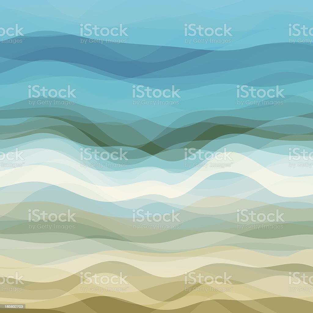 Abstract Wavy Background vector art illustration