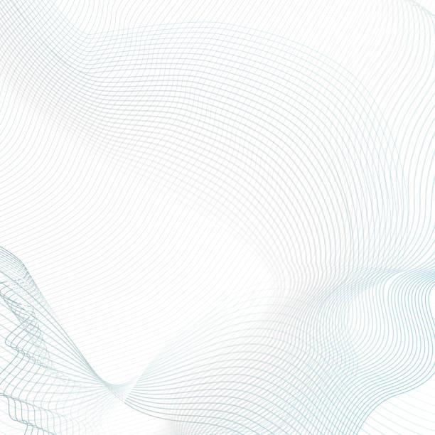 Abstrakte wellige Hintergrund mit Text statt. Technik modernes Template in hellen blauen und grauen Tönen. Vektor winken Kunst Linienkonzept für Sci-Tech-Design. Futuristische Wellenmuster. EPS10 Abbildung – Vektorgrafik