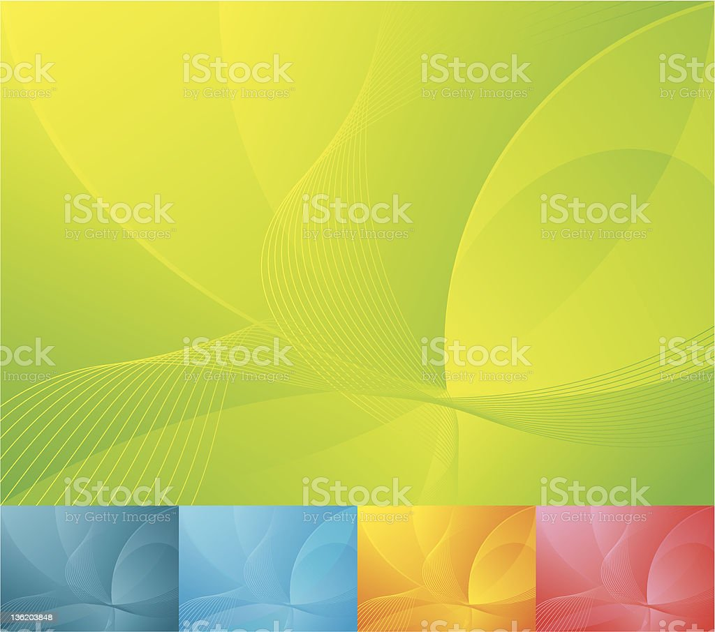 Abstract wavy background with various color options vector art illustration